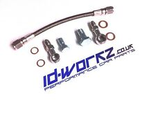 Tubería de alimentación de aceite Turbo Trenzado Manguera Para Subaru Impreza 2.0 2.5 WRX STI EJ20 EJ25