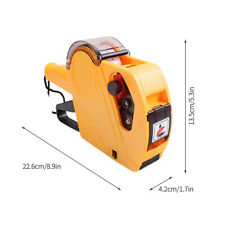 8 Digits Price Tag Gun Mx5500 Eos With Label Paper Amp Ink Roller Retail Shop S2q4