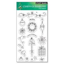 Penny Black Rubber Stamps Clear Christmas Treasures New clear Stamp Set