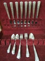 30 Pc GRILLE SET Rogers Deluxe International SIlverplate 1939 GRACIOUS Pattern