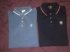 "Mens Designer Clothes Bundle Police Large Size 4 Genuine Ss Ls Polo Shirts 21""PP"