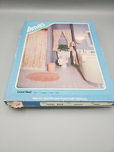 Vintage Ames Shower Curtain And Liner In Original Box Coral Reef Pattern