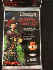 100 ULTRA PRO - RESEALABLE - BAGS AND BOARDS FOR COMIC BOOKS