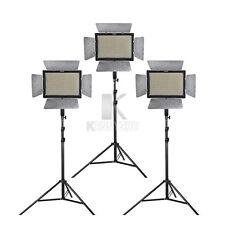 3pcs Yongnuo YN600L II  Video Light Kit + 3pcs Adapter + 6pcs Battery & Charger