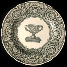 "Spode Archive Collection WARWICK VASE Georgian Black 9"" Lunch Plate EXCELLENT"