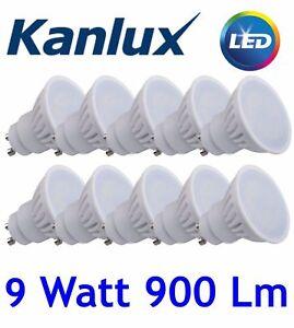 10x 9W = 90W 240v High Power GU10 LED Spot LAMP 6000K SMD Cool Daylight 860 Bulb