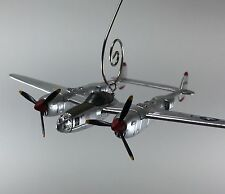 World War II P-38 Lightning USAF WWII MC Christmas Ornament Airplane Aircraft