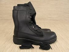 Belleville Black Leather Work Boots Womens US 7 M Lace Up Vibram Sole Safety Toe