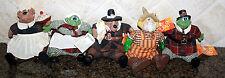 5 Ross Country Folks Thanksgiving Figures Autumn Josette Joshua Scare E Crow New