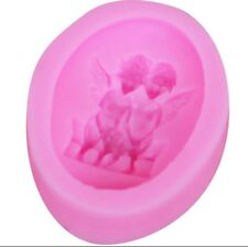silicone mould 2 angels Icing Baking Chocolate Cake Topping Sugar craft DIY