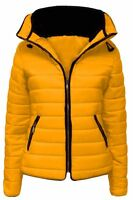 Ladies Jacket Coat Womens Fur Collar New Quilted Puffer Warm Padded Bubble 6-5XL