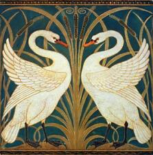Swan Rush Iris : Walter Crane : Fine Art Print : circa 1875