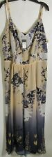 City Chic women size XL Multicolor long Dress sleeveless NWT Lot#39