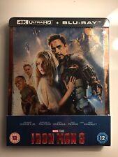 Marvel Iron Man 3: 4K UHD Steelbook (Includes 2D Blu Ray) Zavvi Exclusive
