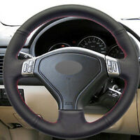 Steering Wheel Cover Wrap Around Real Leather for Subaru Forester Outback Legacy