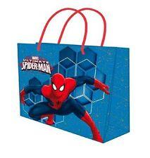 Spiderman 2x Sacchetto Borsa Busta Regalo Carta Lucida taglia M 32x26 cm