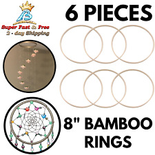 Wooden Rings Bamboo Hoops For DIY Dream Catcher Wall Hanging Crafts Wreath Decor