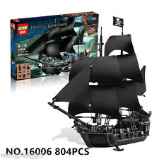 804pcs Black Pearl pirate ship Pirates of the Caribbean Building Toys 16006