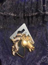 Pilgrim Pin broche GOLD SWAROVSKI NWT exclusive Danish Design HTF HORSE PONY