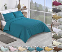 100% ​Cotton Plain Duvet Cover Double King Super King Size Bedding Set