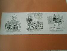 Caricature 1882 - Militaire Orgue de Barbarie