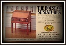 DOLL HOUSE OF MINIATURES CHIPPENDALE DESK ON FRAME, COLONIAL ANTIQUE REPLICA