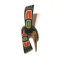 Hummingbird Yellow Cedar Wall Carving Plaque Native First Nations