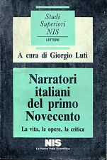 c. Giorgio Luti = NARRATORI ITALIANI DEL PRIMO NOVECENTO
