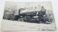 RPPC VINTAGE PHOTO POSTCARD - RAILWAY H. & B.T.  LOCOMOTIVE train railroad NY