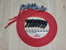 42 Msd 85mm Lsx Ls1 Universal Unassembled 90 Degree Spark Plug Boots Wires Red