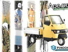 """Reliant AUTO PIAGGIO APE 50 commerciale van furgone """"Brochure"""" mercato britannico tardi anni'90"""