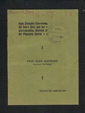 Haywood Some Thoughts Concerning The Sun 1903 Ex Lick Observatory Collection