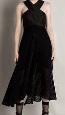 Bianca Spender Black Velvet Dress Sz 12