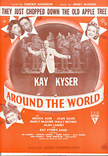 "AROUND THE WORLD ""They Just Chopped Down Old Apple Tree"" Kay Kyser Joan Davis"