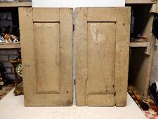 Antique Pair Grungy Original Paint Cabinet Doors 1870s