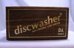 Vintage Discwasher Brand LP Vinyl Record Care System D4 Brush & Fluid in Box