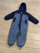 Lupilu Warm Waterproof SnowSuit Blue Bears Age 4 Hood Fleece Lined Worn Twice