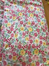 Pottery Barn Kids Twin Duvet Cover Floral Pink Blue Green Yellow