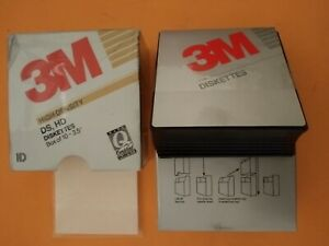 "Vintage Sealed 3M High Density 5 1/4"" DS HD Diskettes Two Boxes"