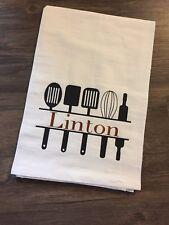 Tea Towel Flour Sack Custom Your Name Mothers Day Farmhouse Decor Iron On Vinyl