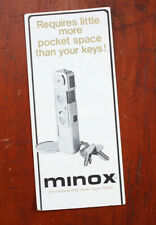 MINOX B AND ACCESSORIES SALES FOLD-OUT/210749