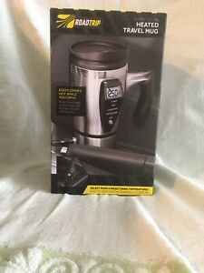 Road Trip 12 V Digital Heated Plug In Vehicle Travel Mug New Unopened