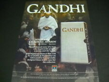 GANDHI Winner Of 8 Academy Awards coming on videocassette 1983 PROMO POSTER AD