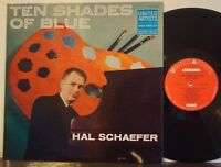 HAL SCHAEFER QUINTET Ten Shades of Blue EXC 1959 DG UNITED ARTISTS MONO LP Jazz