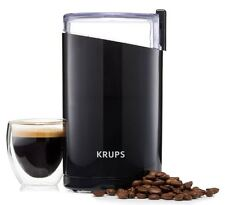 Electric Coffee grinder And Spice Stainless Steel Blades Ounce Krups F203 black