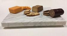 "Cheese Board - White Carrara Marble 10"" x 8"" - Cheese Platter, Housewarming Gift"