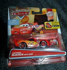 DISNEY PIXAR CARS LIGHTNING McQUEEN WITH SIGN RUST-EZE RACING WITH FREE DOWNLOAD