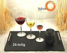 Stölzle Lausitz 24-teiliges Set di bicchieri argento con ogni 6 Occhiali 250.617