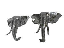 Large Elephant Wall Head Set of 2 pieces 13x15 inches each Figurine au.