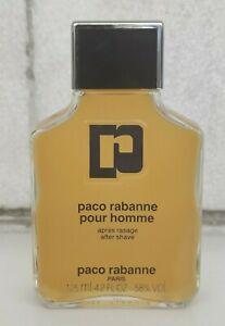 VINTAGE FRANCE PACO RABANNE POUR HOMME AFTER SHAVE 125 ml 4.2 oz SPLASH